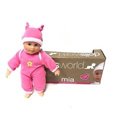 Dolls World Mia Soft Bodied Baby Doll Kids Dolls Babies 25cm Removable Outfit