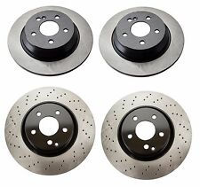 Mercedes CL550 S400 S550 Set of 2 Rear & 2 Front Disc Brake Rotors KIT OPparts