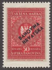 Croatia General Revenue Barefoot #9 MNH 50D 1940 cv $7