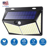 US 208-LED Solar Power Light PIR Motion Sensor Security Outdoor Garden Wall Lamp