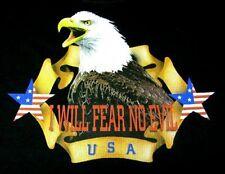 PATRIOTIC AMERICAN EAGLE I WILL FEAR NO EVIL USA AMERICAN FLAG STARS T-SHIRT 523