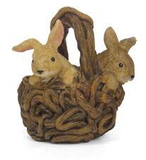 Fairy Garden,  Bunny Basket, Fairy Bunnies, Mini Bunnies, Baby Bunnies