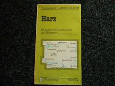 DDR Touristenkarte Harz 1:100000