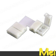 R034 connettore a L per strisce LED SMD 5050-5630-2835 etc. 10 mm