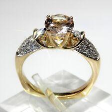 NEU natürlicher Morganit Beryll Diamant Ring 1.52 Carat 585er Gelbgold 14K Pink