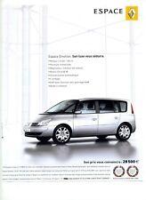 2007 / Voiture Automobile Renault Espace Emotion / publicity / advertising
