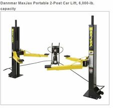 Dannmar MaxJax Portable 2-Post Car Lift, 6,000-lb. capacity
