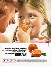 PUBLICITE ADVERTISING 044  1965  OUTSPAN  oranges vitamines C