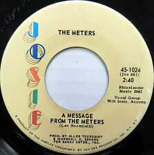 THE METERS 45 A Message from the Meters / Zony Mash JOSIE #720