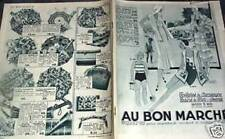 "CATALOGUE ""AU BON MARCHE"" ETE 1931"