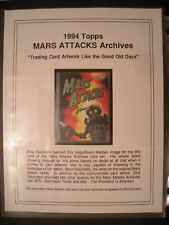 1994 MARS ATTACKS 100 CARD SET LIMITED EDITION #23/70 + ZINA SAUNDERS AUTOGRAPH