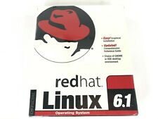 Red Hat Linux 6.1 Operating System Software CD-ROM Floppy Disc New Sealed Box