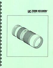 New listing Konica Uc Zoom Hexanon Ar 80-200mm F4 Lens Service & Repair Manual Reprint