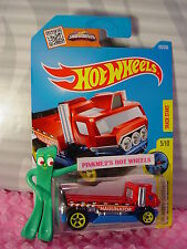 2016 i Hot Wheels THE HAULINATOR #170✰Red/Blue flatbed truck✰City Works✰Case P/Q