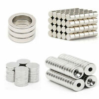 1-100x N50 Cylinder Round Discs Ring Hole Magnets Rare Earth Neodymium Magnet