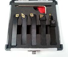 5PZ Indicizzabile TIN Carburo Strumenti tornio set 10mm-include partizione OFF Tool