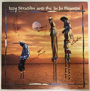 IZZY STRADLIN And The JU JU HOUNDS s/t 1992 AUTOGRAPHED Promo Flat GUNS N ROSES