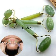 New Face Facial Double Head Roller Natural Massager Massage Body Green Jade Tool