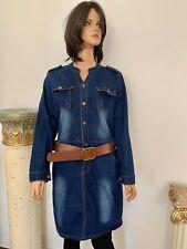 Denim Jeans Dress One Piece Overall Style XXXL Designer Prewash Stretchy Classic