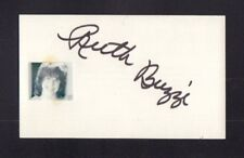 Ruth Buzzi Autographed Signed Index Card-Sized Cut w/COA jhb