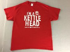 Kettle Cooked Potato Chips I'm A Kettle Head T-Shirt Red Cotton Men Sz XL Gildan