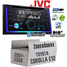 JVC Radio für Toyota Corolla E12/120 2-DIN DAB+ Bluetooth MP3 USB- Einbauset KFZ