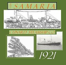 RMS SAMARIA 1921 Cunard: Complete-Ship Retractable Deck Plans / Profile/