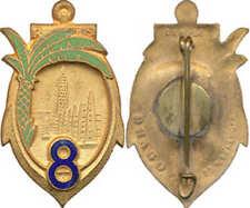8° Régiment de Tirailleurs Sénégalais, émail, tout doré, D.Ber.Dép.