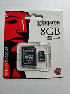 Kingston 8GB Micro SD Flash Memory Card SDC4 HC SDHC Class 4 TF