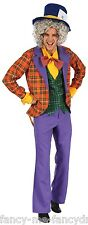 Mens Mad Hatter + Hat Alice in Wonderland Book Day Fancy Dress Costume Outfit
