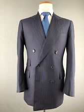 Oxxford Custom Bespoke Lux Double Breasted Navy Blue Blazer Sport Coat Jacket