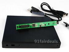 US 12.7mm USB 2.0 IDE/ PATA to SATA External DVD Enclosure For CD/DVD ROM Burner