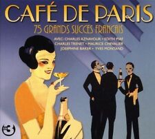 CAFE DE PARIS-75 GRANDS SUCCES FRANCAIS - EDITH PIAF, CHARLES AZNAVOUR-3 CD NEUF