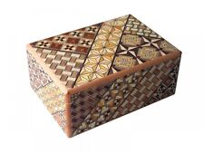 New 12 STEPS gimmick Japanese Puzzle Box Wooden Puzzle Hakone Yosegi from Japan