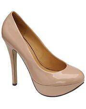 Ravel Ladies Stiletto Shoes Halo Nude Patent UK Sizes 3 - 7