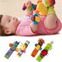 4898 1Pair Baby Infant Soft Animal Hand Wrist Bells Rattles Developmental Toy