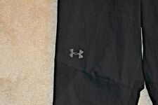 UNDER ARMOUR FITTED Large Men's Lightweight Polyester Mesh Panel Pants Black