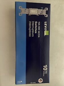 Leviton 15 Amp, 120V, Toggle Framed Single-Pole Ac Quiet Switch, Residential...