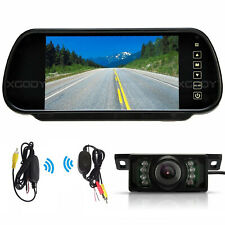 WIRELESS CAR REAR VIEW KIT 7″ LCD MONITOR IR REVERSING CAMERA 170° WIDE VIEW NEW