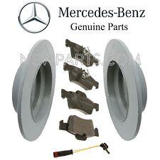 Mercedes W210 W211 E320 E350 E50 Rear Brake Pad Set & 2 Disc Rotors 1 Sensor Kit