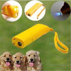 Pet Repeller Dog Whistles Stop Barking Trainer LED Ultrasonic Training Device