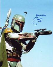 JEREMY BULLOCH Signed STAR WARS BOBA FETT Photo w/ Hologram COA
