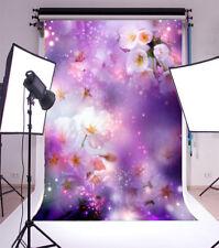Bright Purple dream Baby 5X7ft Petal Vinyl Background  Photography Backdrops