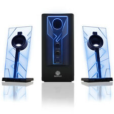 BassPULSE 2.1 Stereo Sound System w/ Powered Subwoofer for Home Theater & More!