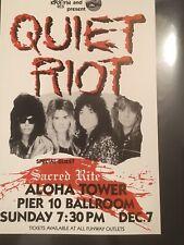 Quiet Riot 1986 Original Vintage Hawaii Concert Poster With Guest Sacred Rite!