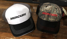 2 X Authentic Mercury Marine Hat Black and Red Camo + Black and White -Brand New