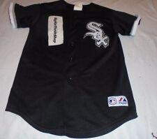 Chicago White Sox Black Majestic MLB Baseball Youth Jersey Medium Blank