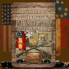 1st Kentucky Volunteers 8 X 12 Aluminum Sign w/ top & bottom mounting holes
