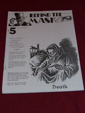 Behind the Mask #5 (1990) Pulp adventure reprint fanzine Fading Shadows Echoes