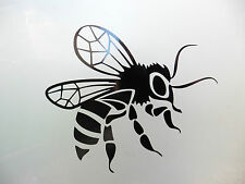 Honey Bee Insects animals stickers/car/van/bumper/window/decal 5219 BlacK
